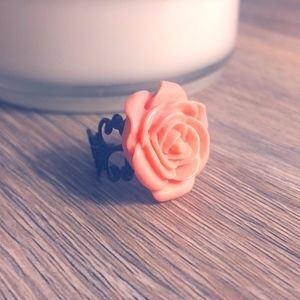 Peach, Rose Resin Ring